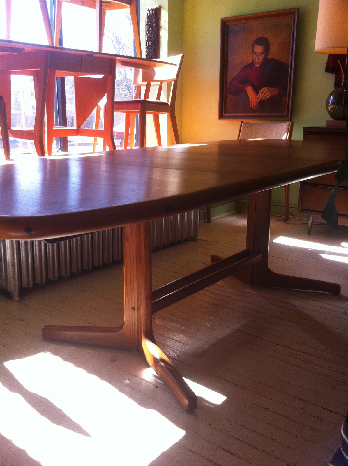 Teak D Scan Dining Room Table Chairs