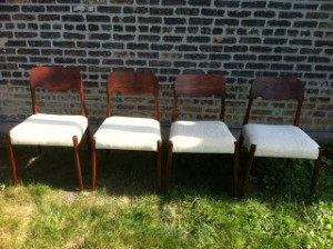 J.L. MOLLER DINING CHAIRS
