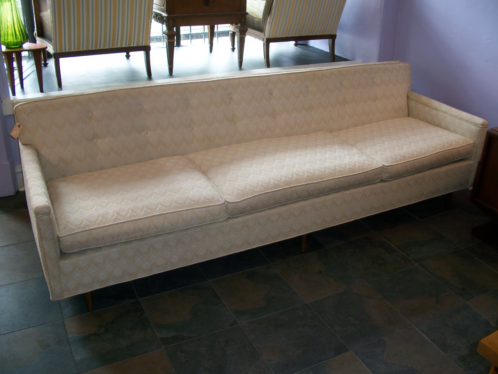 Picture of: Mid Century Modern Vintage Sofa An Orange Moon Mid Century Modern Antiques Vintage Furniture Chicago