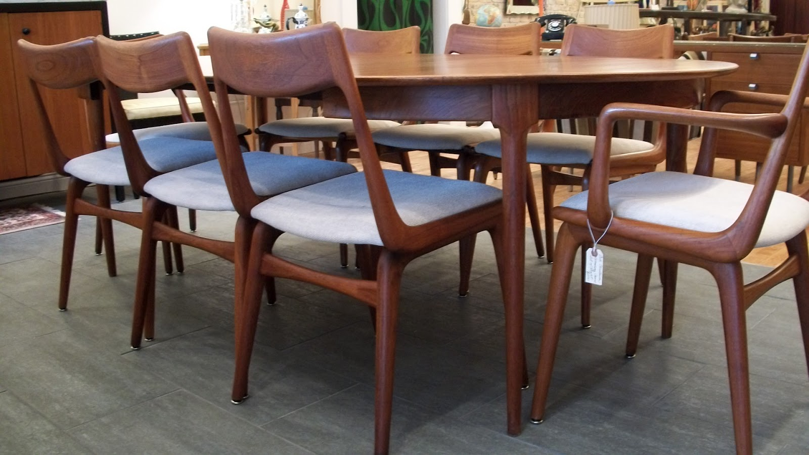 breathtaking danish scandinavian dining room furniture | 8 Danish Dining Room Chairs by Erik Christensen | An ...