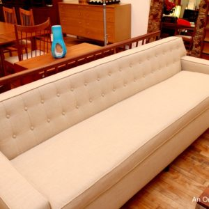 8 Foot Long MINT Modern Tuxedo Dunbar Wormley Style Sofa