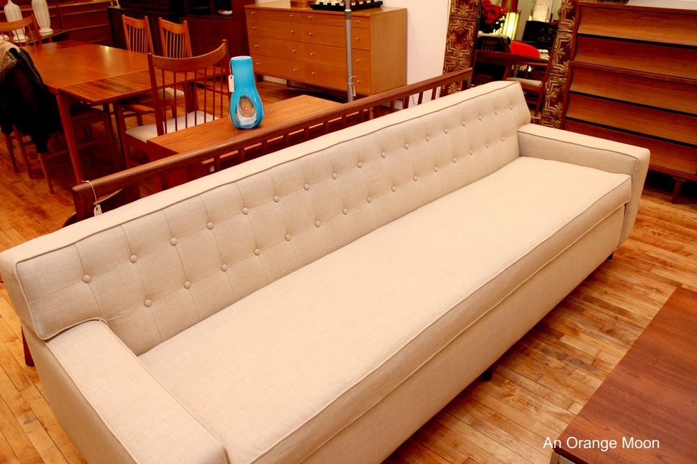 8 foot long mint modern tuxedo dunbar wormley style sofa rh anorangemoon com 8 foot sectional sofa 8 foot leather sofa