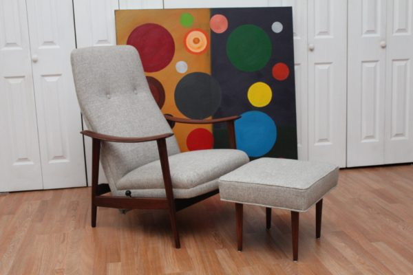 Stokke Fabrikker Aalesund 3 Position Lounge Chair and Footstool