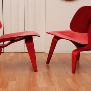 Pair of Charles & Ray Eames LCW Chairs