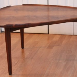 GORGEOUS BURLED WALNUT DANISH COFFEE TABLE