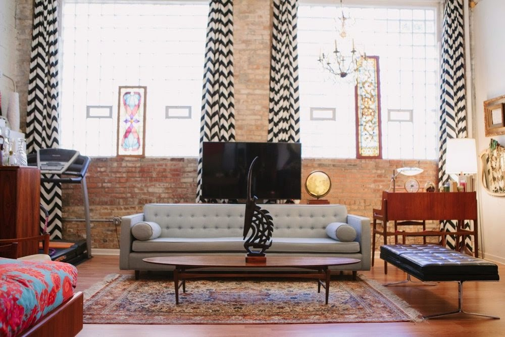 Ty Lynnes Soulful MidCentury Chicago Studio - Mid century furniture chicago
