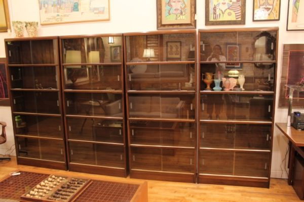 5 Stack Barrister Sectional Bookcase Display Glass Cabinet