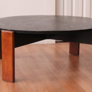 Harvey Probber Walnut and Slate Coffee Table