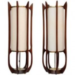 Mid Century Modern Modeline Sculptural Lamps