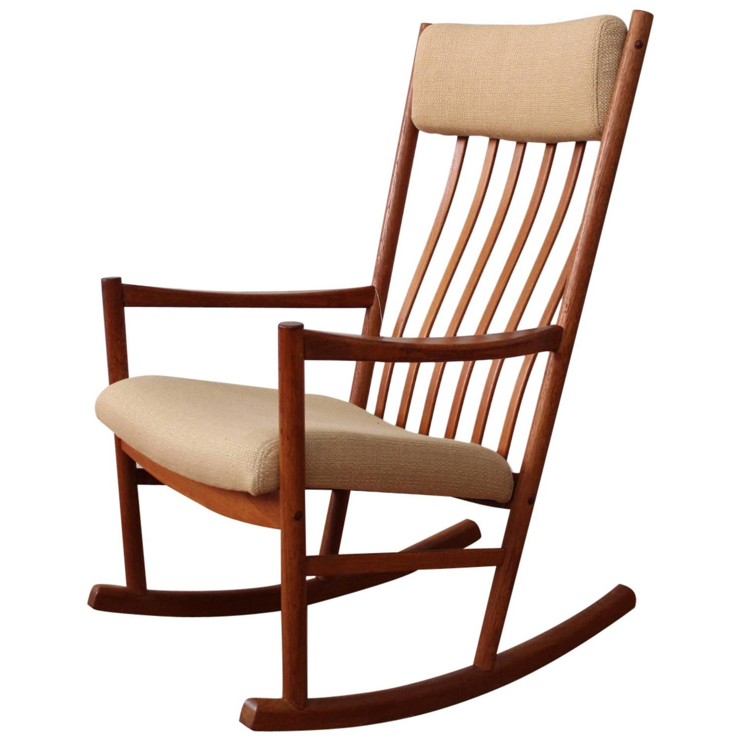 danish teak rocking chair. Black Bedroom Furniture Sets. Home Design Ideas