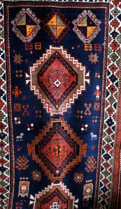 Hanging Bedroom Rug Close