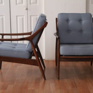 Walnut Lounge Chairs