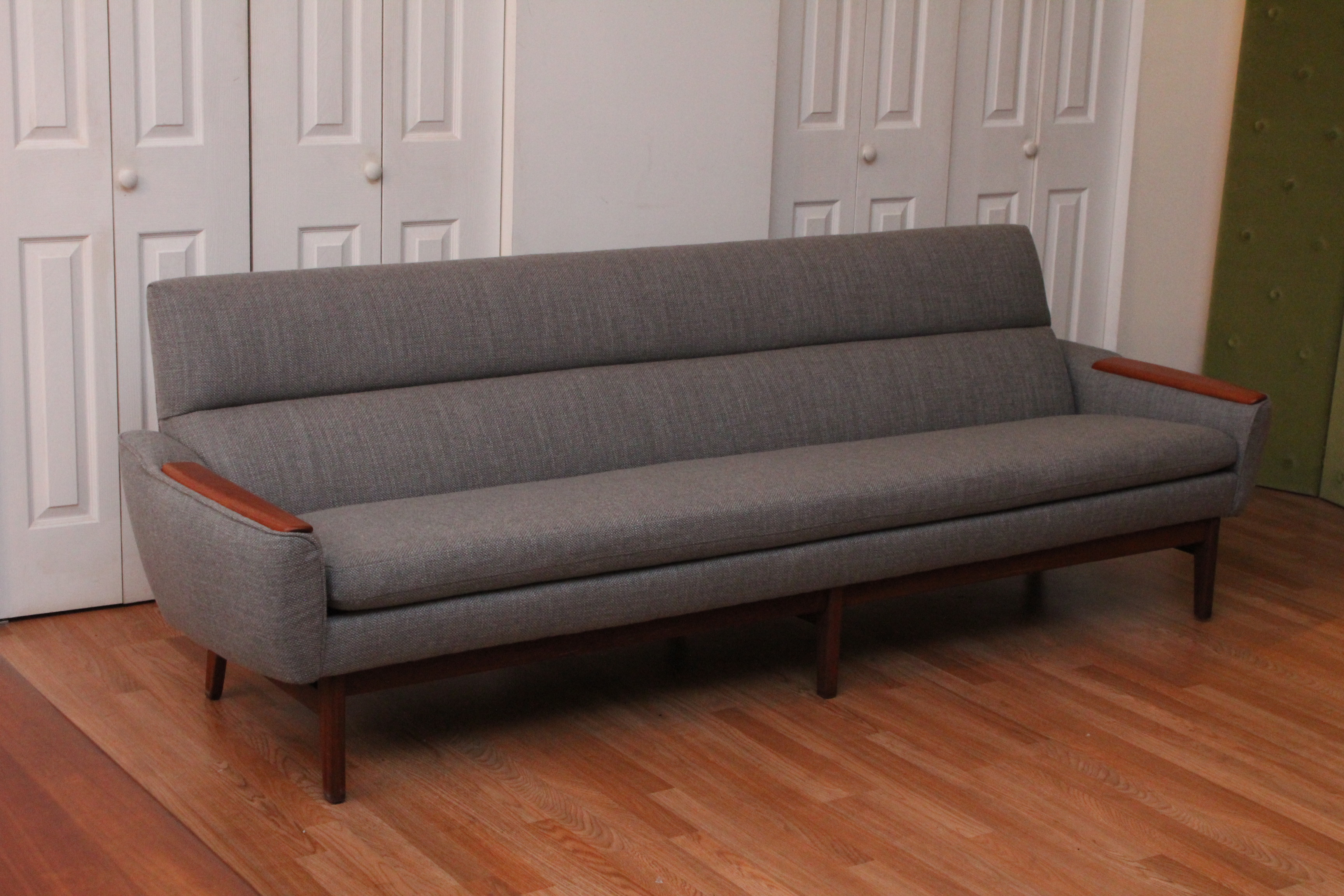 Mid Century Modern Danish Sofa with Teak Armrests | An ...