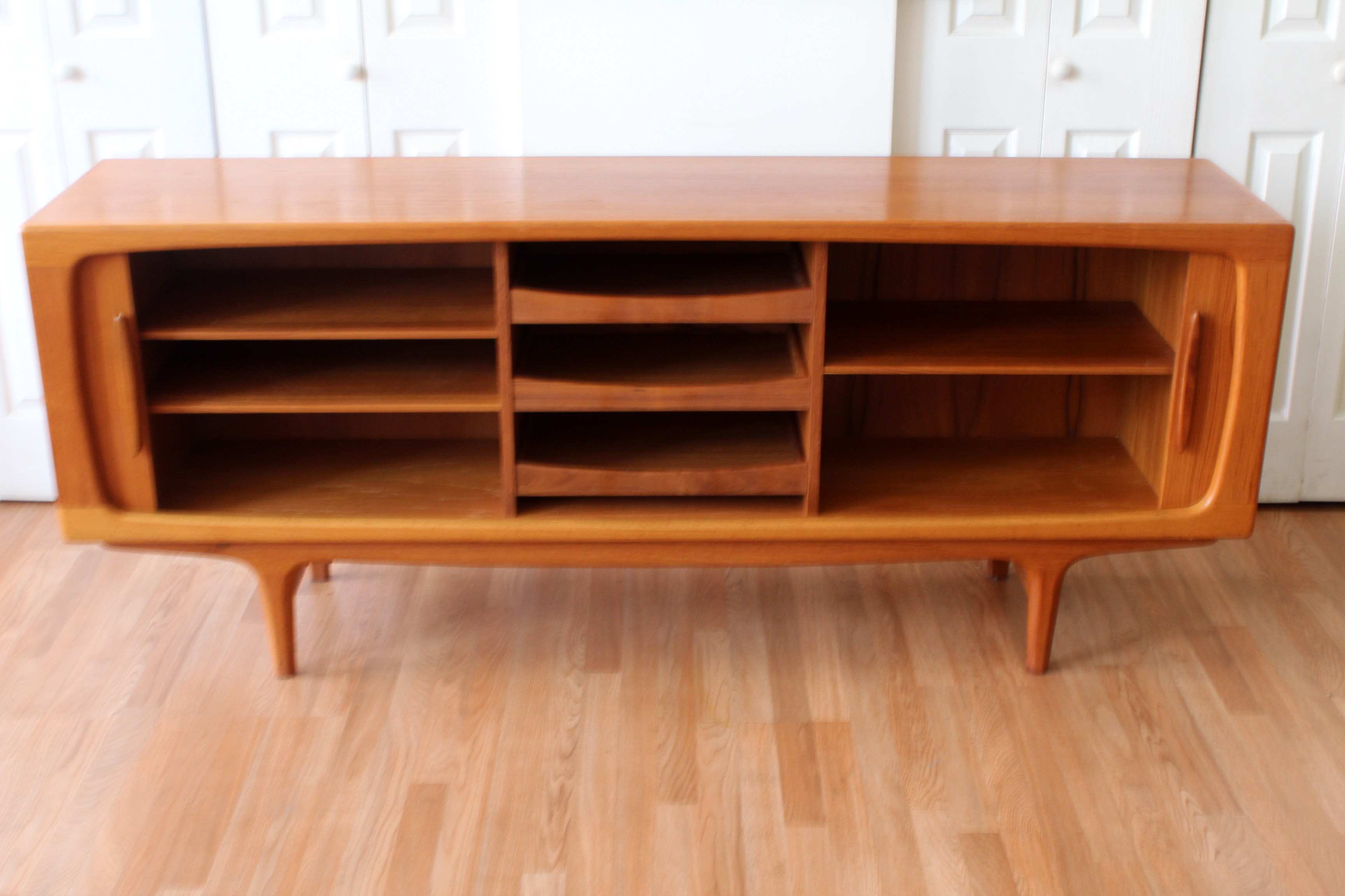 teak credenza tambour doors cfc johannes andersen an orange moon 1st dibs - First Dibs Home Decor