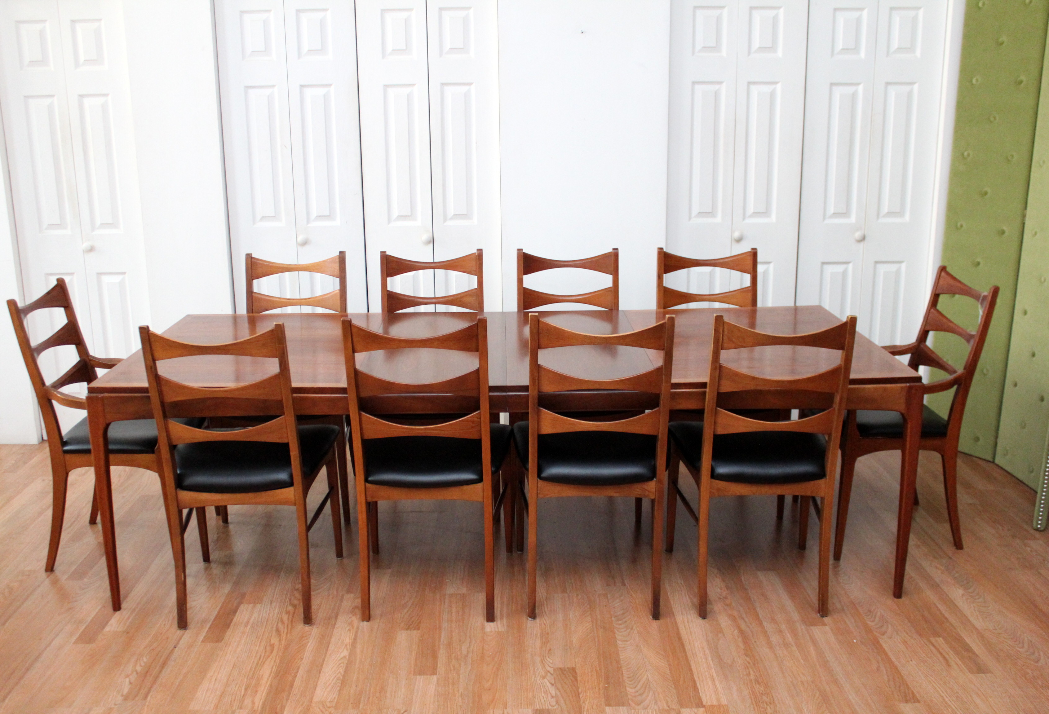 Lane Dining Room Sets Lane Walnut Dining Room Table Ten Chairs