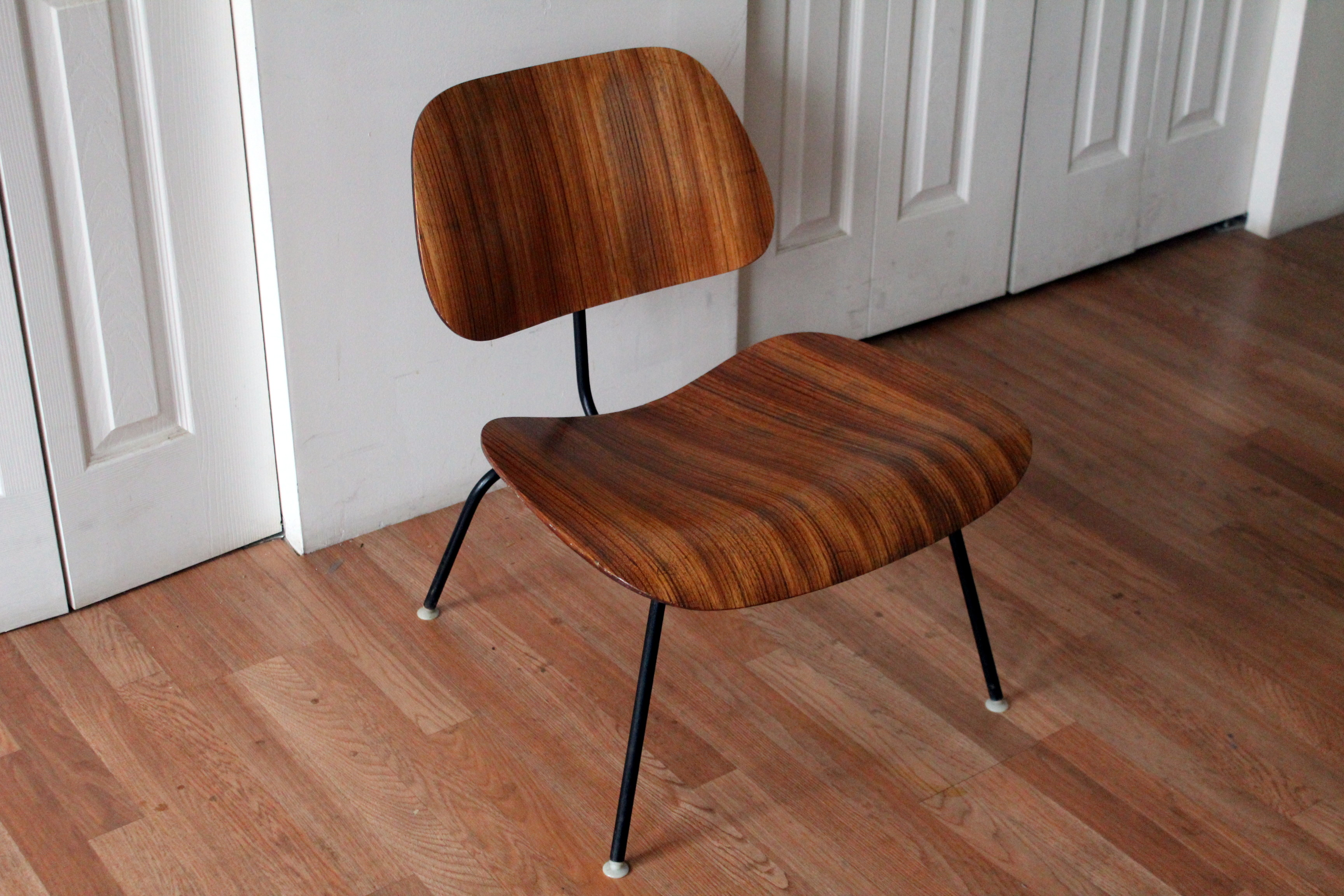 Eames LCM Zebra Wood Lounge Chair