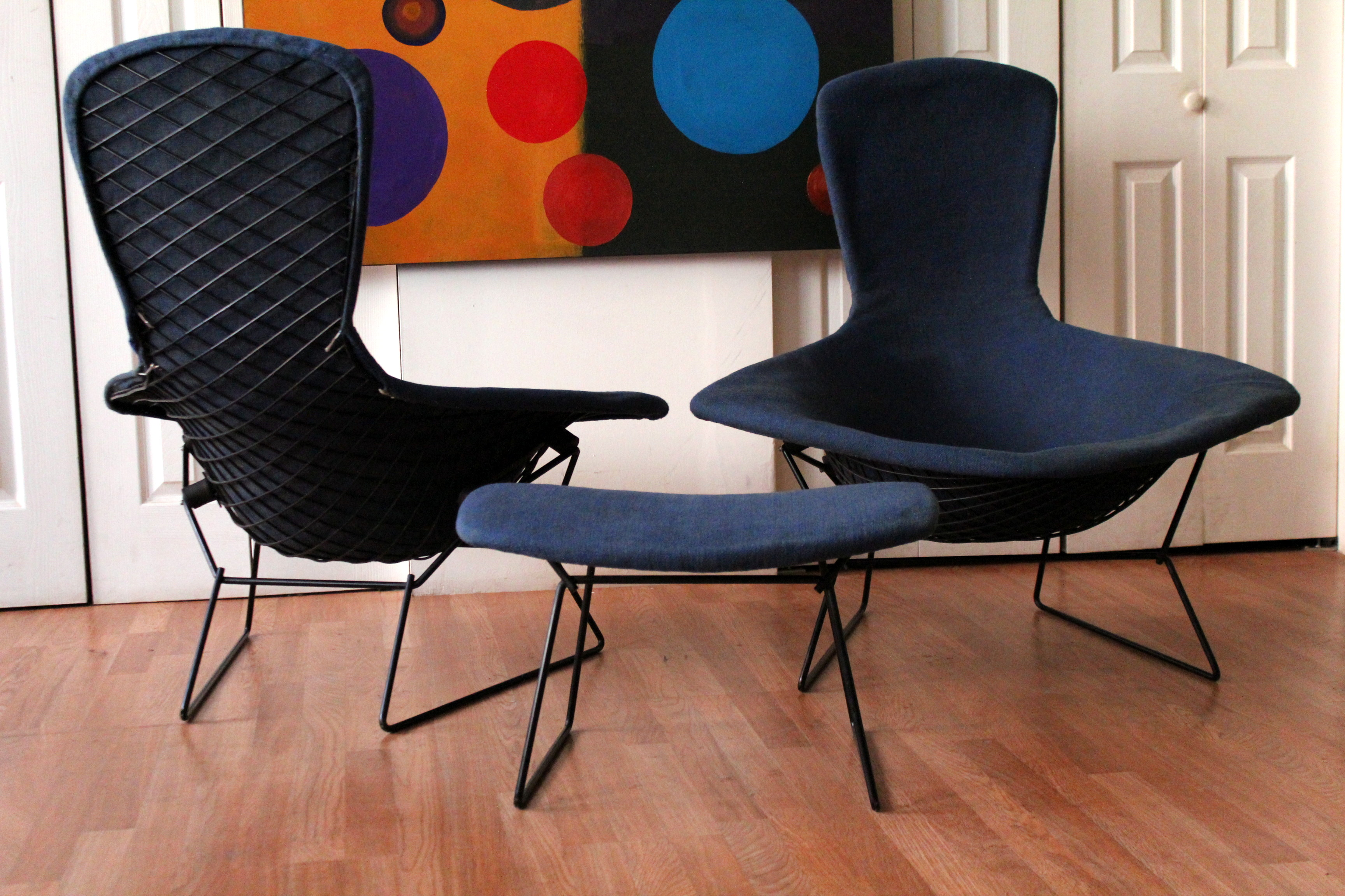 Authentic Vintage Harry Bertoia Knoll Bird Chairs and Ottoman & Authentic Vintage Harry Bertoia Knoll Bird Chairs and Ottoman | An ...