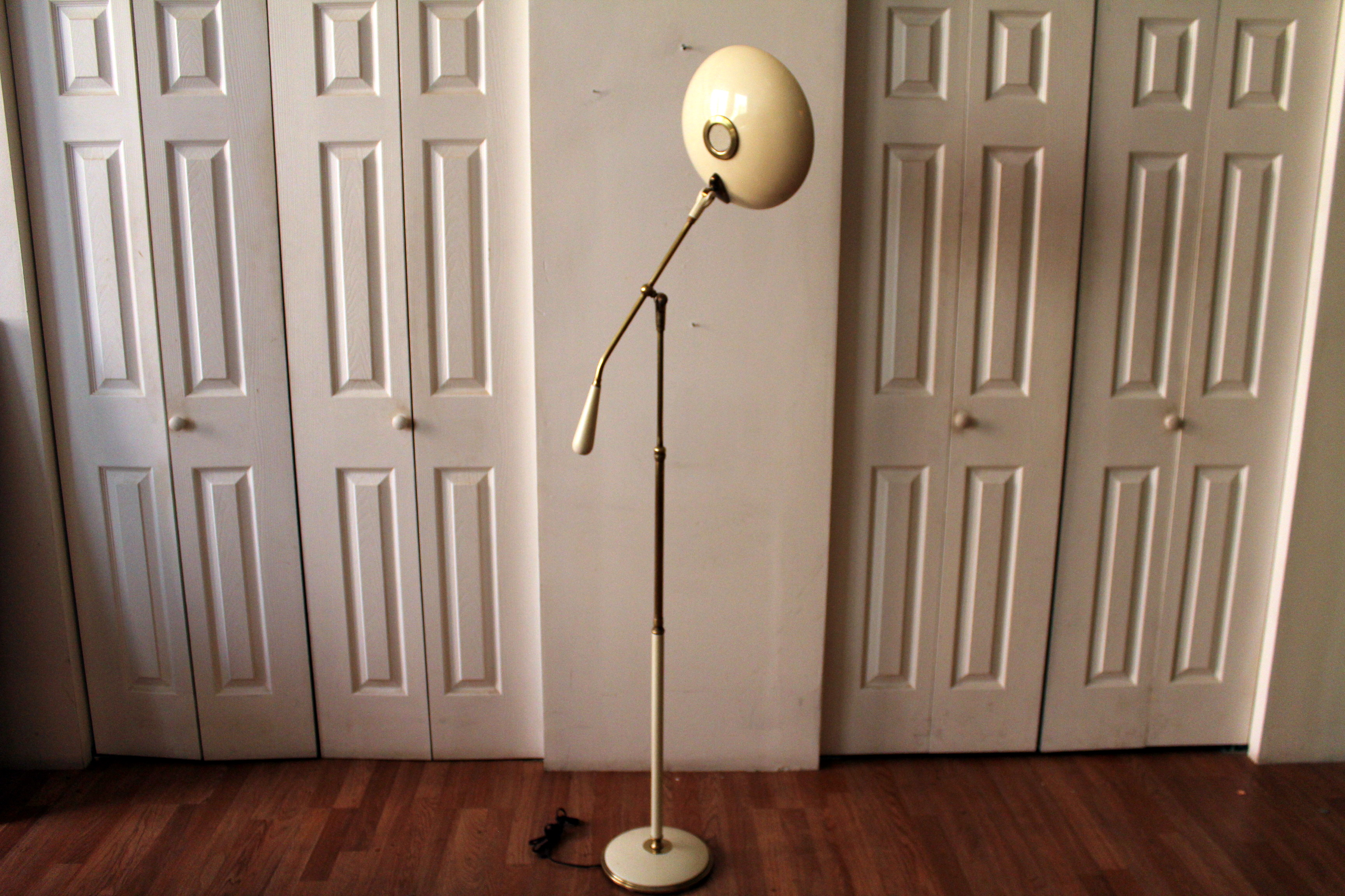 gerald thurston for lightolier floor lamp an orange moon uber