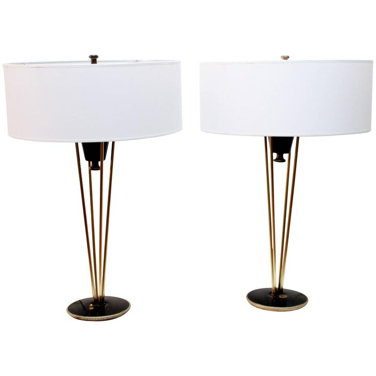 Incroyable Gerald Thurston For Lightolier Table Lamps