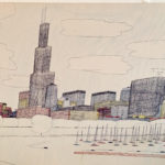 "Artwork by Wesley Willis ""The Lakefront 1986"""