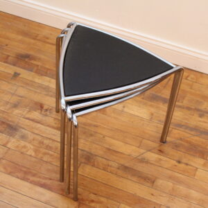 Chrome Black Bauhaus Nesting Tables