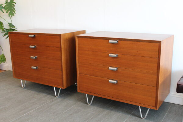 George Nelson Herman Miller Pair Hairpin Legs Chest of Drawers